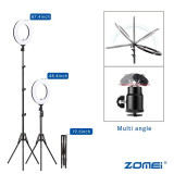 Zomei Dimmable Photography Photographic Studio Ring Light 3200-5600K LED Lighting Phone Adapter Makeup For Live Broadcast VideoA