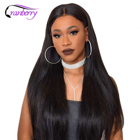 Cranberry Hair 4x4 Closure Wig Lace Front Human Hair Wigs For Black Women Remy Brazilian Hair Silky Straight Lace Front Wigs