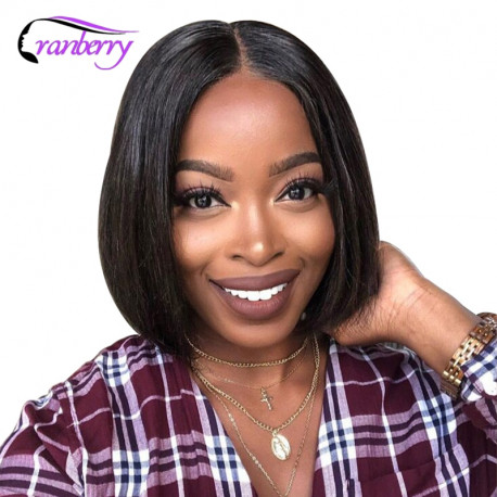 Cranberry Hair Straight Hair 13x4 Lace Front Wig Brazilian Hair Bob Lace Front Wig Remy Hair Short Human Hair Wigs 8-16 Inch