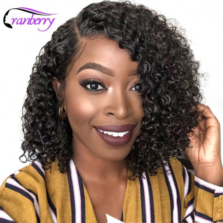 Cranberry Hair 13x4 Lace Front Wig Curly Human Hair Wigs Brazilian Hair Lace Front Human Hair Wigs Remy Hair Bob Lace Front Wig
