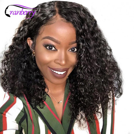Cranberry 13x4 Lace Front Wig Bob Lace Front Wig Brazilian Hair Deep Wave Lace Front Wig Remy Hair Lace Front Human Hair Wigs