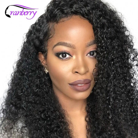 Cranberry Hair 4x4 Closure Wig 100% Remy Hair Curly Human Hair Wigs Peruvian Wig Lace Front Human Hair Wigs Lace Closure Wigs