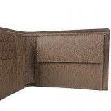 Gucci Mens Dollar Calf Brown Pebbled Leather Logo Bifold Wallet 292534