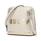 Gucci Women's White GUCCY Sega Script Dome Mini Crossbody Bag 511189 1055