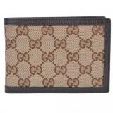 Gucci Men's Original Canvas Beige Brown GG Logo Bifold Wallet 292534