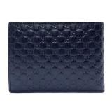 Gucci Men's Blue GG Microguccissima Leather Bifold Logo Wallet 292534