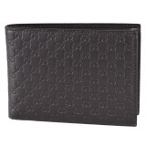 Gucci Men's Brown GG Microguccissima Leather Bifold w/ Coin Logo Wallet 292534