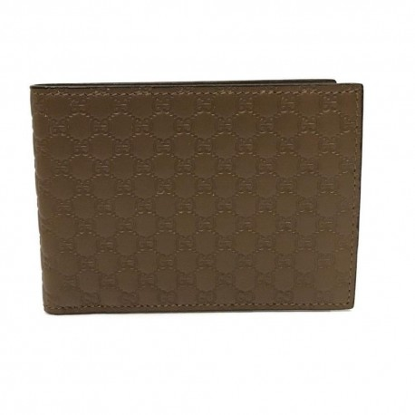 Gucci Mens Acero Brown GG Microguccissima Soft Leather Bifold Wallet 292534