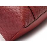 Gucci Womens Microguccissima Rosso Red Leather Crossbody Handbag 449656