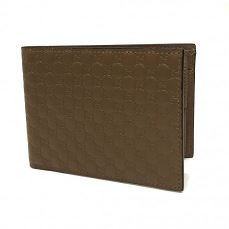 Gucci Men's Brown Microguccissima Leather Bifold Wallet Coin Pocket 367287