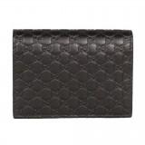 Gucci Men's Microguccissima GG Logo Margaux Dark Brown Card Case 544474 Wallet