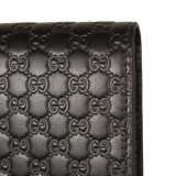 Gucci Men's Microguccissima GG Logo Margaux Dark Brown Card Case 544474 Wallet