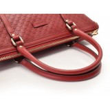Gucci Womens Microguccissima Rosso Red Leather Crossbody Handbag 449656