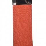 Gucci GG Dollar Calf Leather Nero Black/ Sun Orange Reversible Belt Size 90/36 450000