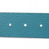 Gucci Womens Deep Cobalt Blue Nero Pebbled Dollar Calf Leather Belt 450000 Size 95/38