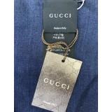 Gucci Unisex GG Navy Silk Wool Scarf 387569