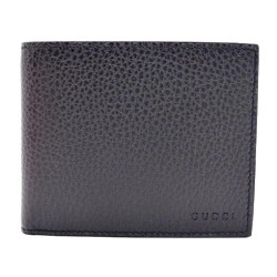 Gucci Mens Black Nero Dollar Calf Pebbled Leather Bifold Wallet 260987 CAO0N