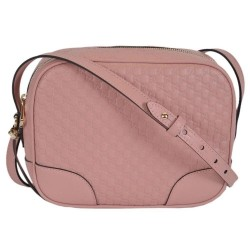 Gucci Mini Bree Microguccissima Soft Calf Margaux Soft Pink Crossbody 449413