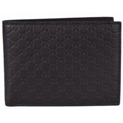 Gucci Mens Microguccissima T. Moro Brown Leather Bifold Wallet 278596