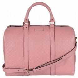 Gucci Microguccissima Soft Pink Leather Dome Boston Bag 449646