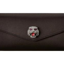 Gucci Women's Broadway Envelope Black Satin Clutch 531874