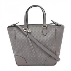 Gucci Womens Gray Microguccissima Small Crossbody Bag Tote Handbag 449241