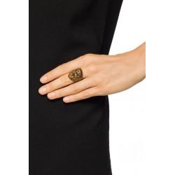 Gucci Womens Ottone Dorato Size Medium Metal Monkey Head Ring 524146 Size 7