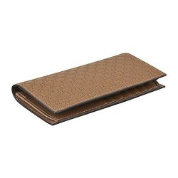 Gucci Men's Acero Brown Microguccissima Tall Vertical Leather Bifold 449245
