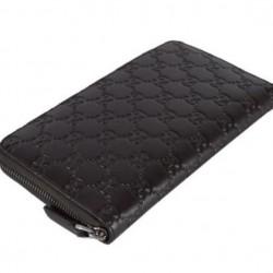 Gucci Signature Mens Cocoa Brown GG Guccissima Calf Leather Wallet 447906