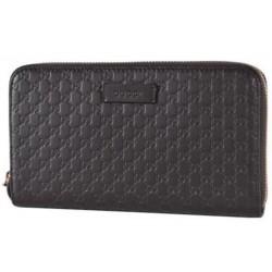 Gucci Women's Brown T. Moro Microguccissima GG Leather Zipper Wallet 449391