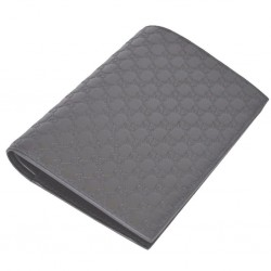 Gucci Mens Dark Brown GG Logo Vertical Passport Holder Microguccissima Soft Leather 496948