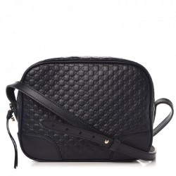 Gucci Womens Midnight Blue Navy Microguccissima GG Soft Leather Crossbody Handbag 449413
