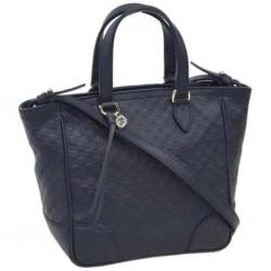 Gucci Microguccissma Calf Midnight Blue GG Leather Crossbody 449241