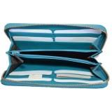 Gucci Womens Deep Cobalt Microguccissima GG Leather Zipper Wallet 449391