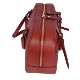 Gucci Micro Guccissima Soft Dollar Calf Margaux Red Zip Top Rectangle Bag Crossbody 510286