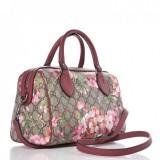 Gucci GG Supreme Monogram Blooms Top Handle Medium Dry Rose 453704