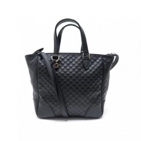 Prada Women's Black Pattina Nappa Gaufre Leather Crossbody Handbag Bag 1BD139
