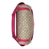 Gucci BABY GG Supreme Canvas Pink Leather Trim Rose Trim Diaper Pack 123326