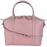 Gucci Women's Microguccissima Light Pink Soft Calf Leather Dome Bag Handbag 449657