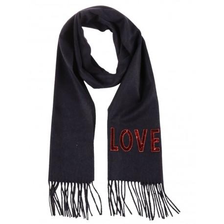 Gucci Women's Love Blue Cashmere Scarf 481318