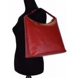 Gucci Women's GG Microguccissma Soft Leather Red Medium Hobo Tote 449732