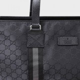 Gucci GG Canvas Guccissima Web Trim Leather Large Leather Luggage Tote 449179