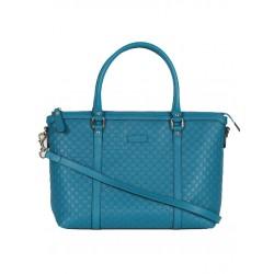 Gucci Microguccissima Deep Cobalt Blue Leather Handbag 449656