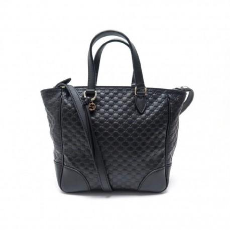 Gucci Womens Black Microguccissima Small Crossbody Bag Tote Handbag 449241