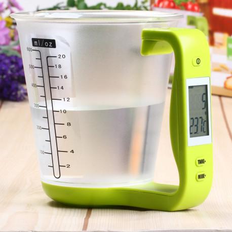 Hostweigh Digital Measuring Cup Kitchen Scales Digital