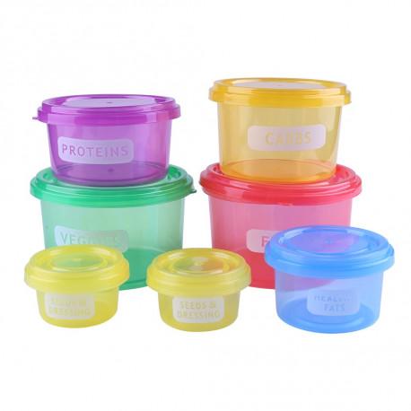 7Pcs Portion Control Food Prep Storage Container