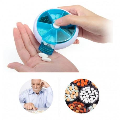 Automatic Rotary Round Medicine Box