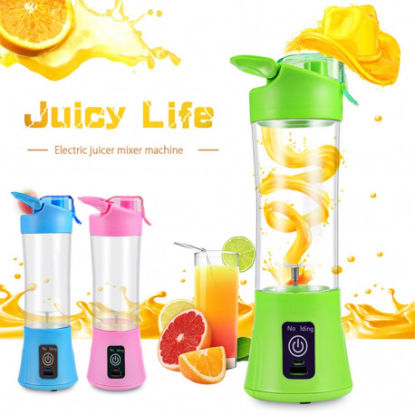 Portable Blender Juicer Cup Rechargeable Electric Automatic Vegetable Fruit Protein Mixer Bottle