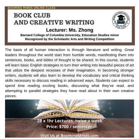 Book Club & Creative Writing (G3-4)
