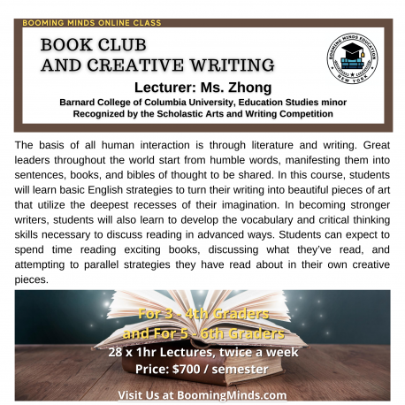 Book Club & Creative Writing (G5-6)